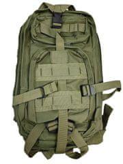 Vojenský turistický batoh 28 l, tmavě zelená T-255-TZ