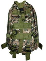 Vojenský turistický batoh 28 l, maskáč khaki T-255-MK