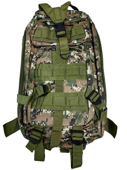 Vojaški turistični nahrbtnik 28 l - kaki maskiranje T-255-MK