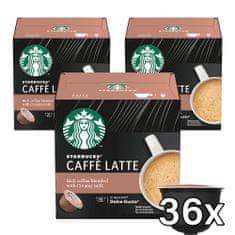 Starbucks Caffe Latte by NESCAFE DOLCE GUSTO Kávové kapsle, 3x12 kapslí v balení