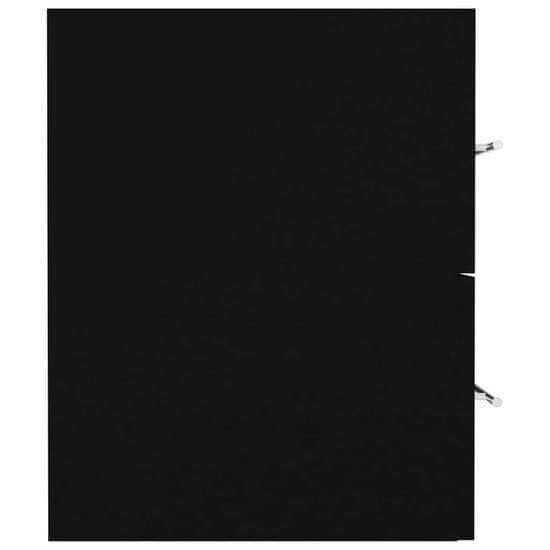 shumee Szafka pod umywalkę, czarna, 80 x 38,5 x 48 cm, płyta wiórowa