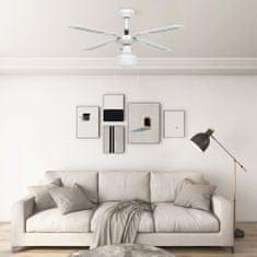 Greatstore Stropni ventilator z lučjo 106 cm bel