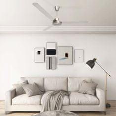 Greatstore Stropni ventilator 142 cm srebrn