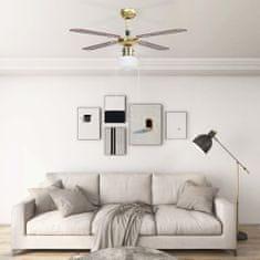 Greatstore Stropni ventilator z lučjo 106 cm rjav