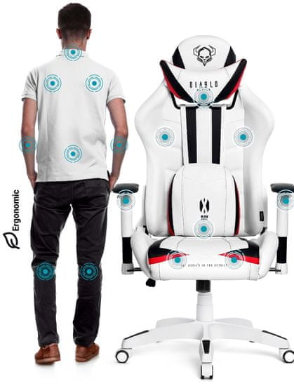 Diablo Chairs X-Ray, bílá/černá (5902560336061)