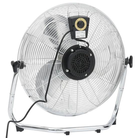 shumee 3 sebességes króm padlóventilátor 60 cm 120 W