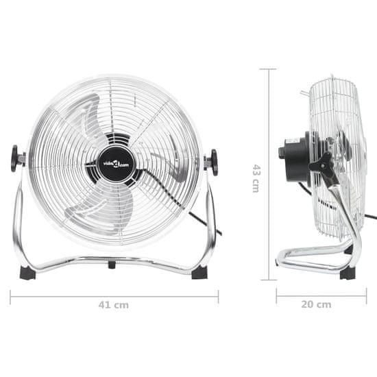 shumee Talni ventilator 3 hitrosti 40 cm 40 W Chrome