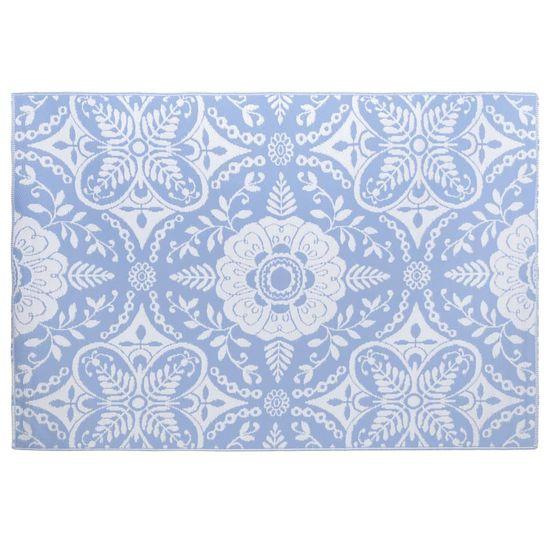 shumee Vonkajší koberec detský modrý 190x290 cm PP