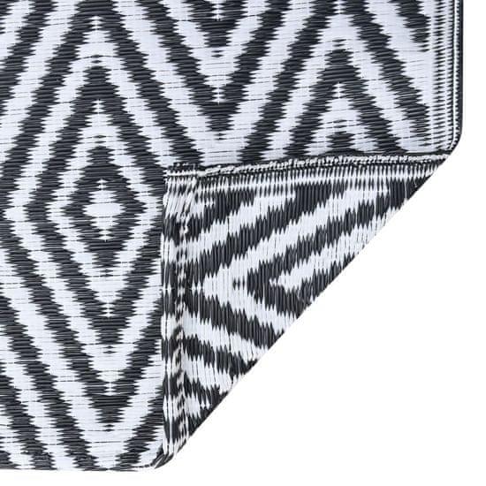 shumee fekete-fehér PP kültéri szőnyeg 120 x 180 cm