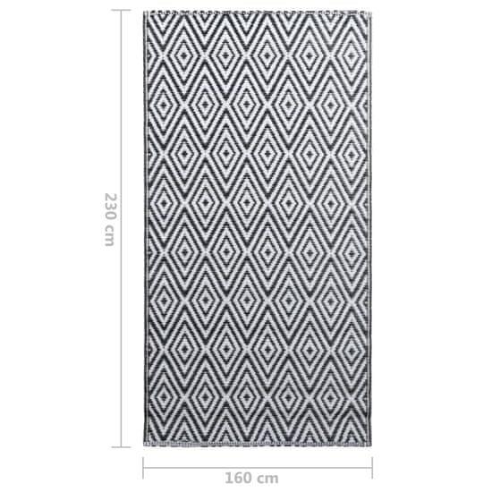 shumee fekete-fehér PP kültéri szőnyeg 160 x 230 cm