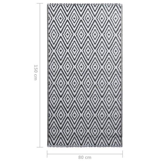 shumee fekete-fehér PP kültéri szőnyeg 80 x 150 cm