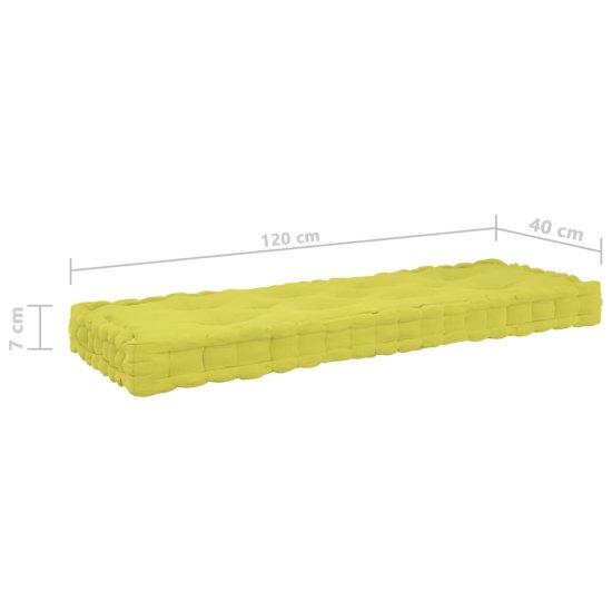 shumee Podlahové podložky na paletový nábytok 4 ks jablkovo-zelené bavlna