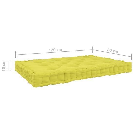 shumee Poduszki na podłogę lub palety, 3 szt., zielone, bawełniane