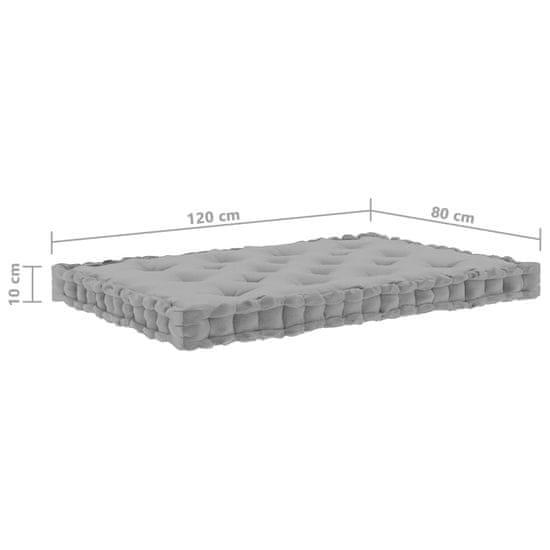 shumee Podlahové podložky na paletový nábytok 6 ks sivé bavlna