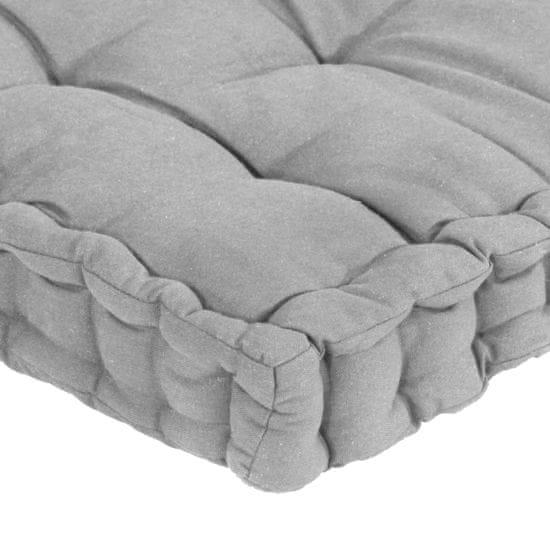 shumee 5 db szürke pamut raklapbútor-padlópárna