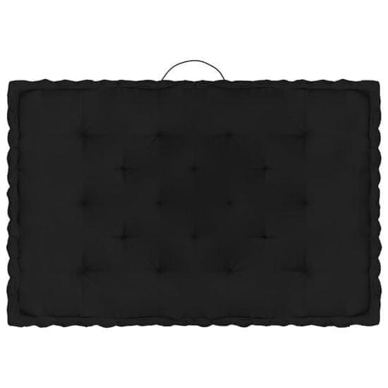 shumee Poduszki na podłogę lub palety, 3 szt., czarne, bawełniane