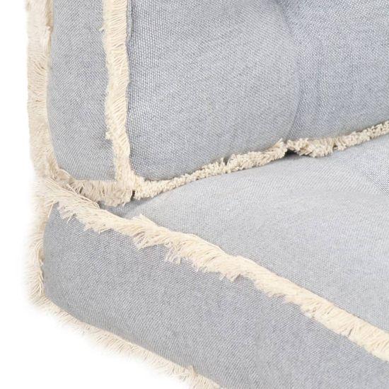 shumee Zestaw 3 poduszek na sofę z palet, szary
