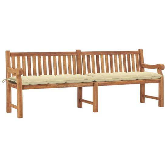 shumee Záhradná lavička s vankúšom 240 cm teakový masív