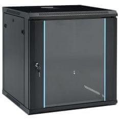 """shumee 12U Nástenná serverová skriňa 19"""" 600x600x640 mm IP20"""