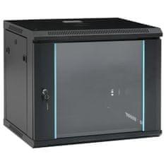 """shumee 9U Nástenná serverová skriňa 19"""" 600x450x510 mm IP20"""