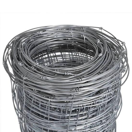 shumee ezüstszínű horganyzott acél kerti kerítés 50 x 1,6 m
