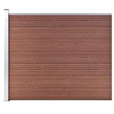 shumee Ograjni panel WPC 175x146 cm rjav