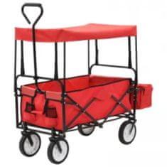 shumee Zložljiva voziček z nadstreškom jekleno rdeča