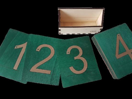 LINIT DESIGN Številke z brusnim papirjem - peščene številke