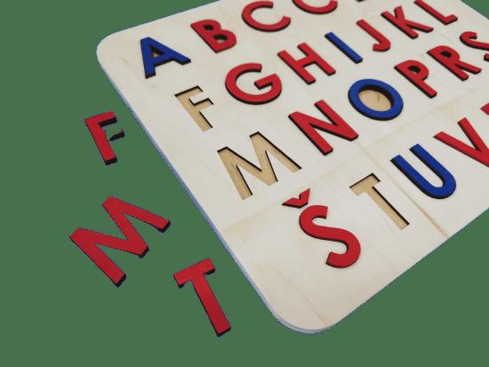 LINIT DESIGN Sestavljanka abeceda - velike tiskane črke