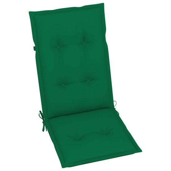 shumee Składane krzesła ogrodowe z poduszkami, 6 szt., drewno akacjowe