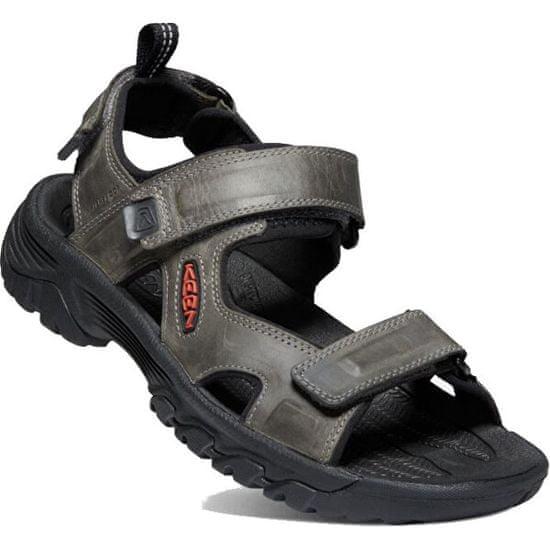 KEEN Moški sandali TARGHEE III OPEN TOE SANDAL PRST 1022424 sivo / črn