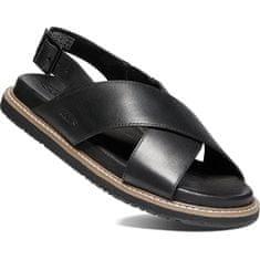 KEEN LANA CROSS STRAP SANDAL SANDAL 1022584 czarno/czarne damskie skórzane sandały (Wielkość 38)