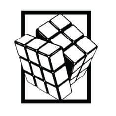 Megaprint stenska nalepka Rubikova kocka