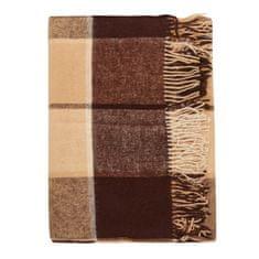 Cozy Blankets Bavlněný pléd NW 170x200 cm hnědá