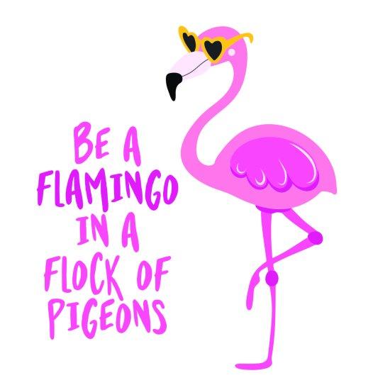 Megaprint stenska nalepka Flamingo