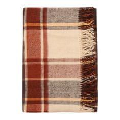 Cozy Blankets Bavlněný pléd NW 170x200 cm hnědá/béžová
