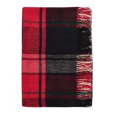 Cozy Blankets Bavlněný pléd NW 170x200 cm černá/červená
