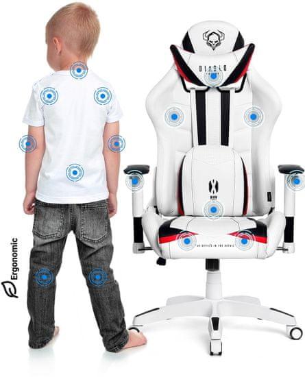 Diablo Chairs X-Ray, dětská, bílá/černá (5902560336153)