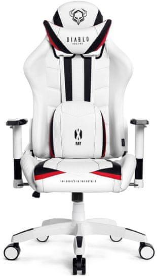 Diablo Chairs X-Ray, XL, bílá/černá (5902560336122)