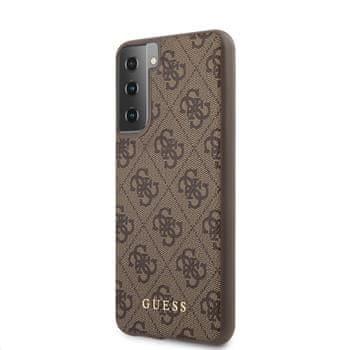 Guess Etui ochronne 4G do Samsung Galaxy S21+ GUHCS21MG4GFBR, brązowe