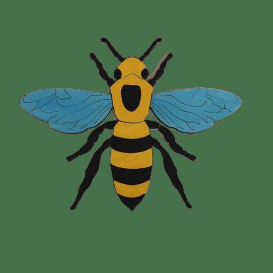 LINIT DESIGN Lesena sestavljanka deli čebele
