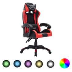 shumee igralni stol RGB LED rdeče / črno imitacija usnja