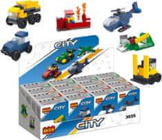 Cogo City stavebnica - XXL sada hasiči, polícia, dopravné prostriedky 16v1 kompatibilná 643 dielov