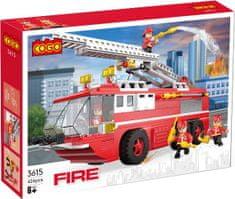 Cogo stavebnica Hasiči - hasičská striekačka kompatibilná 424 dielov