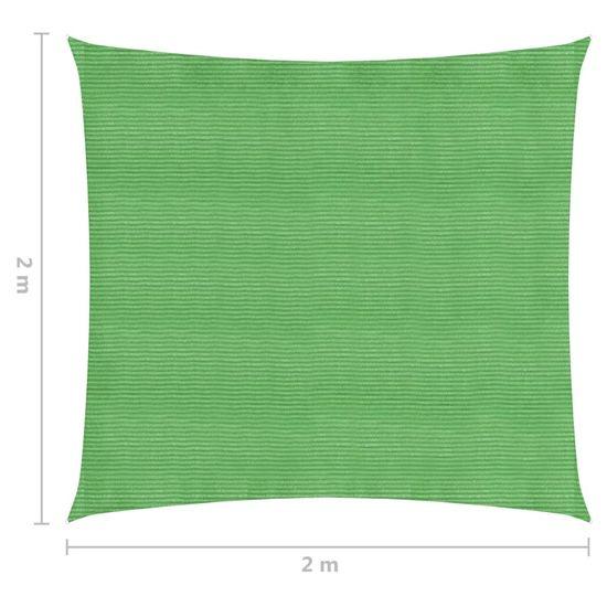 shumee Żagiel przeciwsłoneczny, 160 g/m², jasnozielony, 2x2 m, HDPE