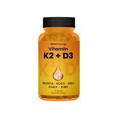 MOVit Hnuteľný ENERGY Vitamín K2 + D3 1000 IU 60 kapsúl