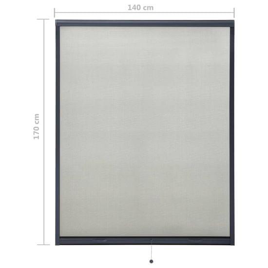 shumee antracitszürke lehúzható ablakszúnyogháló 140 x 170 cm