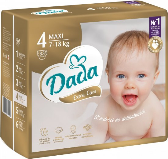 Dada Extra Care, veľ.: 4, 7-18 kg, 33 ks