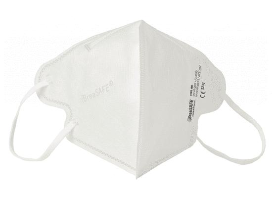 BreaSAFE® 5x Český NanoRespirátor BreaSAFE® FFP2 - Znovupoužitelný - bílý M (39,90 Kč/kus)