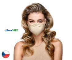 BreaSAFE® 10x Český NanoRespirátor BreaSAFE® FFP2 - Znovupoužitelný -béžový M (39,90 Kč/kus)